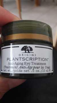 ORIGINS - Plantscription - Traitement anti-âge pour les yeux