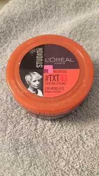 L'Oréal - Studio Line txt 03 - Cire modelante brillance naturelle