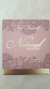 TOO FACED - Natural matte - Palette de fards à paupières