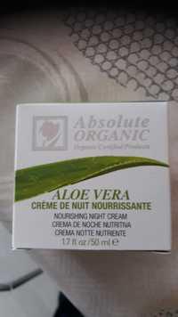 Absolute Organic - Aloe vera - Crème de nuit nourrissante