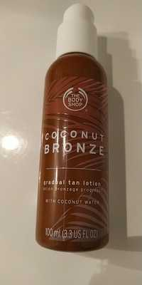 THE BODY SHOP - Coconut bronze - Lotion bronzage progressif