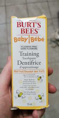 BURT'S BEES - Bébé - Dentifrice d'apprentissage