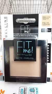 Gemey Maybelline - Fit Me Poudre mat antipores 105 Ivoire naturel