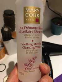 MARY COHR - Eau démaquillante micellaire douceur