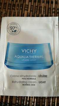 VICHY - Aqualia thermal - Crème réhydratante légère
