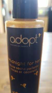 ADOPT' - Midnight for her - Huile sèche pailletée corps et décolleté