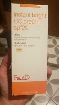 FACED - Instnt bright - CC cream SPF 20
