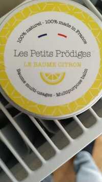 LES PETITS PRÖDIGES -  Le baume citron - Baume multi-usages