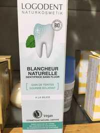 Logona - Logodent - Blancheur naturelle dentifrice sans fluor