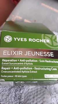 Yves Rocher - Elixir jeunesse - Réparation + Anti-pollution - Soin restructurant