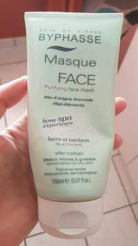 BYPHASSE - Home spa experience - Soin du visage masque