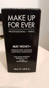 Make up for ever - Mat velvet+ - Fond de teint matifiant