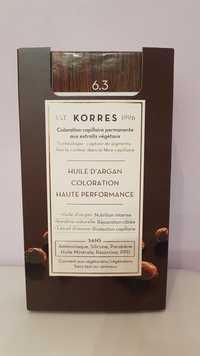 KORRES - Coloration capillaire permanente haute performance 6.3