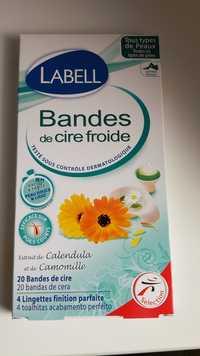 LABELL - Extrait de Calendula et de Camomille - Bandes de cire froide