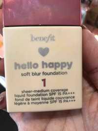 BENEFIT - Hello happy - Fond de teint liquide SPF 15 PA+++
