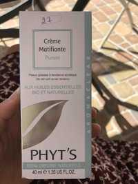 Phyt's - Pureté - Crème matifiante
