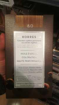 KORRES - Huile d'argan - Coloration haute performance 8.0