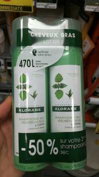 KLORANE - Shampooing sec séboréducteur à l'ortie