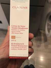 CLARINS - Crème de soins teintée désaltérante 03 peach spf15