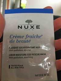 NUXE PARIS - Crème fraîche de beauté - Masque sos hydratant 48h