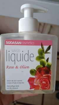 Sodasan Cosmetics - Savon liquide à la rose & olive