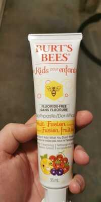BURT'S BEES - Dentifrice pour enfants saveur fusion fruitée
