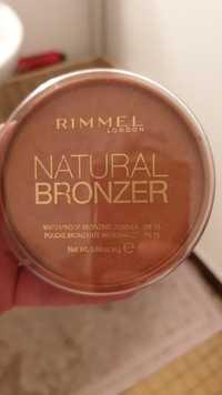 RIMMEL - Natural bronzer - Poudre brozante waterproof FPS 15