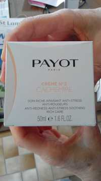 PAYOT - Crème n°2 cachemire - Soin riche apaisant anti-stress, anti-rougeurs