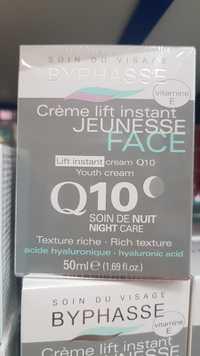 BYPHASSE - Soin du visage - Crème lift instant jeunesse - Q10 soin de nuit