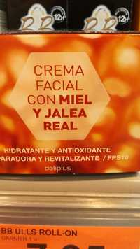 Deliplus - Miel y jalea real - Crema facial fps 10