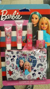 Barbie - Cosmetica set - Lip gloss, shimmering body mist, water base nail polish, glitter gel