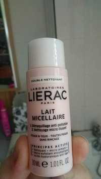 LIÉRAC - Double nettoyant - Lait micellaire