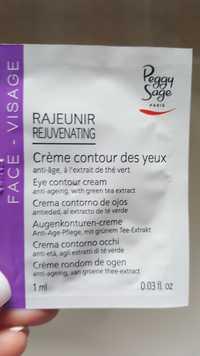 PEGGY SAGE - Rajeunir - Crème contour des yeux