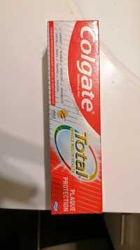COLGATE - Total Plaque protection - Dentifrice au fluor