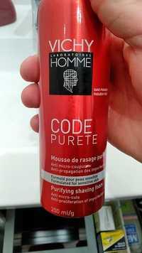 VICHY - Code pureté - Mousse de rasage purifiante