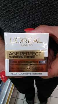 L'Oréal - Age perfect - Nutrition intense nuit