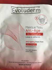 EVOLUDERM - Masque tissu anti-âge au collagène