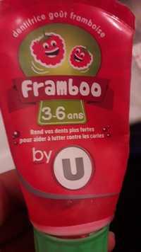 BY U - Framboo - Dentifrice goût framboise - 3-6 ans