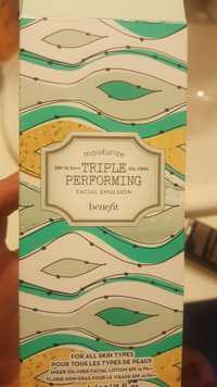 BENEFIT - Triple performing - Facial emulsion spf 15