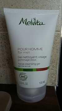 Melvita - Pour homme - Gel nettoyant visage - Gommage doux