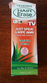 Velform - Hair erase - Just spray & wipe away for men and women