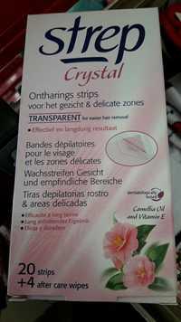 STREP - Crystal - Bandes dépilatoire pour le visage et les zones délicates