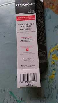 Fadiamone - Crème de nuit anti-âge pour peaux sèches