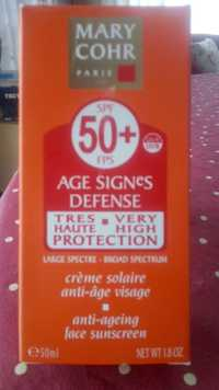MARY COHR - Âge sugbes défense SPF 50+ - Crème solaire anti-âge visage