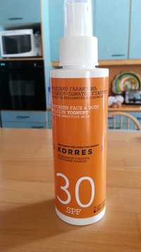 KORRES - Sunscreen face & body emulsion yoghurt sfp 30