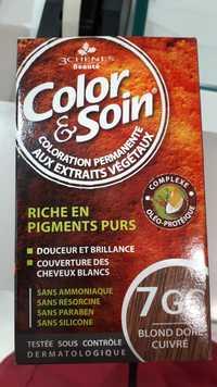 3 CHÊNES - Color & soin - Coloration permanente 7GC blond doré cuivré