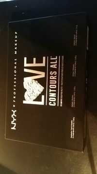 NYX PROFESSIONAL MAKEUP - Love contours all - Palette sculptante pour les yeux et le visage