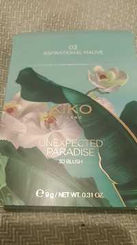 KIKO - Unexpected paradise - 3D Blush 03 Aspirational mauve