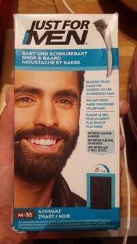 JUST FOR MEN - Coloration moustache et barbe M-55 noir