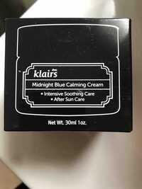 KLAIRS - Midnight blue calming cream - After Sun Care